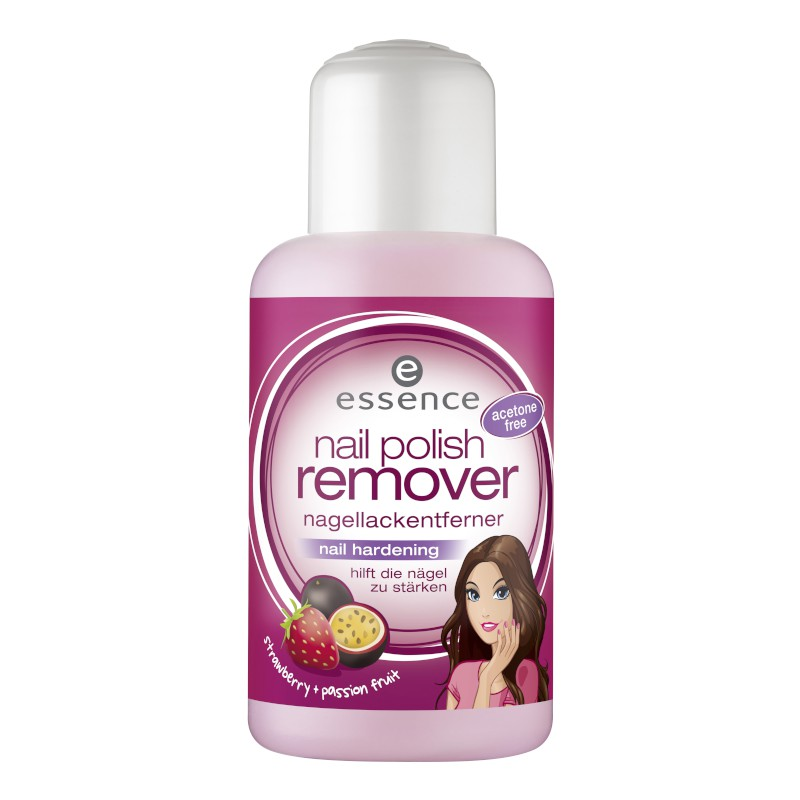 essence - Nagellackentferner - nail polish remover nail hardening - strawberry + passion fruit