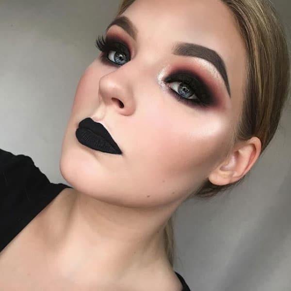 Falsche Wimpern Inspiration Make-up Look Black