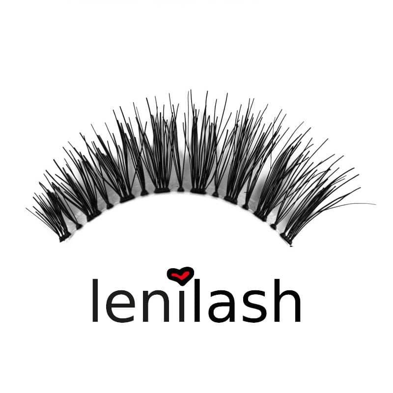 lenilash ll119 Falsche Wimpern schwarz Echthaar Einzelbild