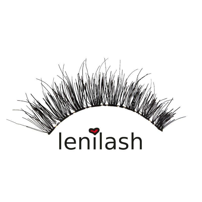 lenilash ll135 Falsche Wimpern Schwarz Echthaar Nr.135 Einzelbild