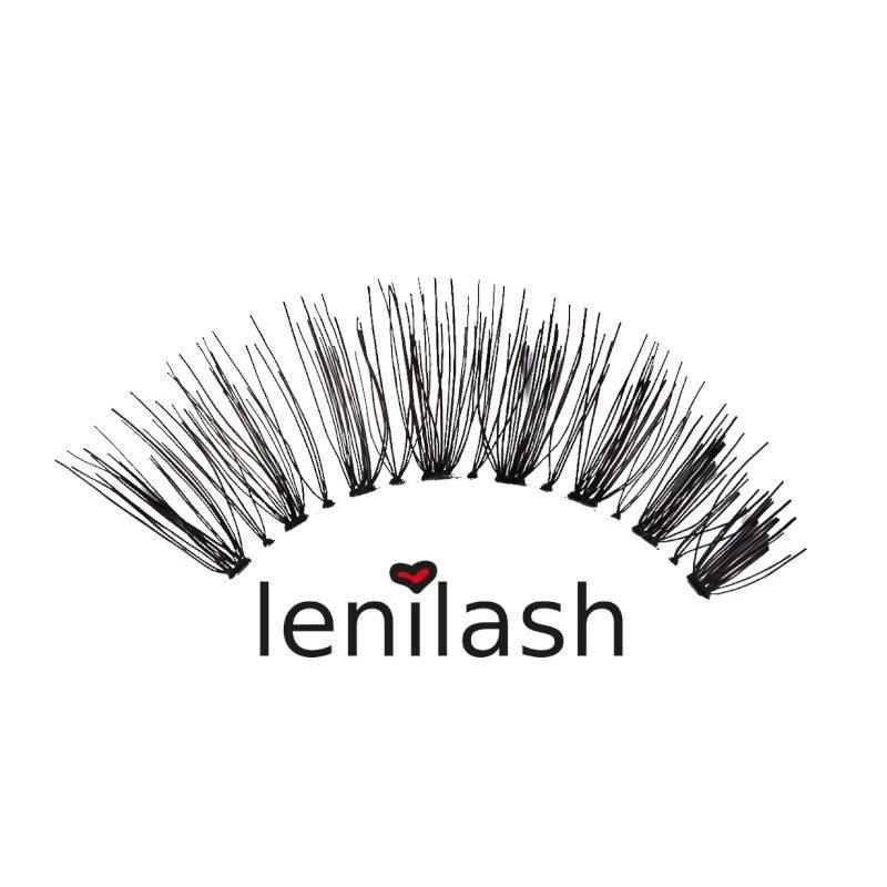 lenilash ll137 Falsche Wimpern Schwarz Echthaar Nr.137 Einzelbild